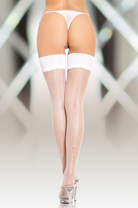 Big white ass garters stockings